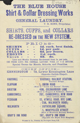 Advert for the Blue House Laundry